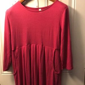 Pink 2xl dress with pockets